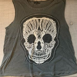 Urban outfitters skull tank